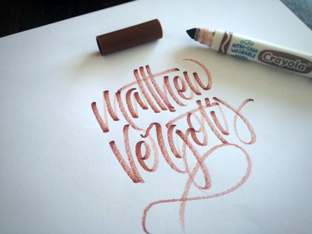 Crayligraphy by Matt Vergotis