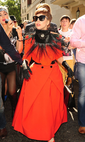 We love Gaga...but none of us are Gaga.  Let's leave her brand of dressing to the Queen.