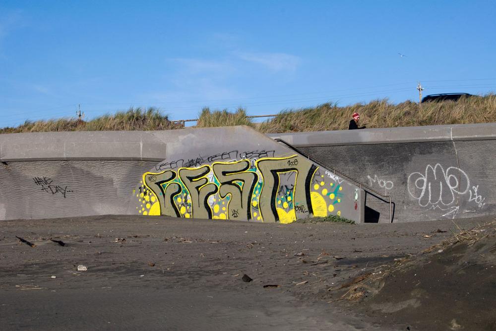 """Outerlands #4 (Graffiti Wall) 17"""" x 12"""" 2012"""