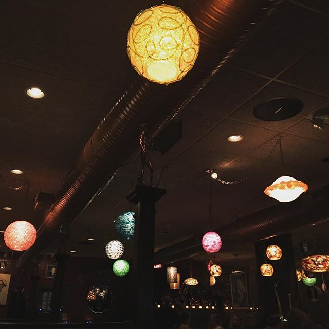Had a lovely dinner with my valentine. Definitely p'awesome @lopossumrva! There's something eccentric, other-worldly and perfect about the light fixtures. Love them. #nom #rva #rvadine #valentines #dinnerdate