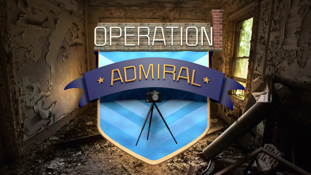 Operation Admiral was a code word I used for a mission to photograph and take video of the Admiral's Row houses in Brooklyn on Flushing Ave. Abandoned in the 1980s, these beautiful houses are in a horrible state of decay. Only one or two will be restored.  I took the photograph on my Canon 5D Mk II and modeled the logo in Cinema 4D.   Here is a Flickr set of my Admiral's Row photos.