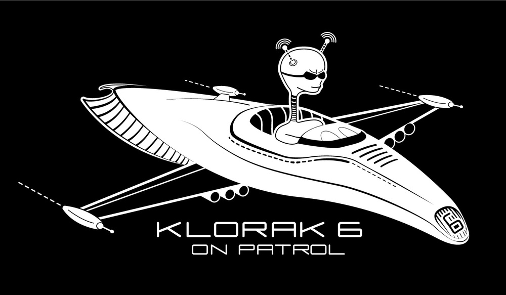 Klorak 6 is  a design for a bamboo iPhone 4 case.  He is on patrol to protect the galaxy from villains like Inflamo and his incendiary fiends. He has a tough job but he keeps his cool.