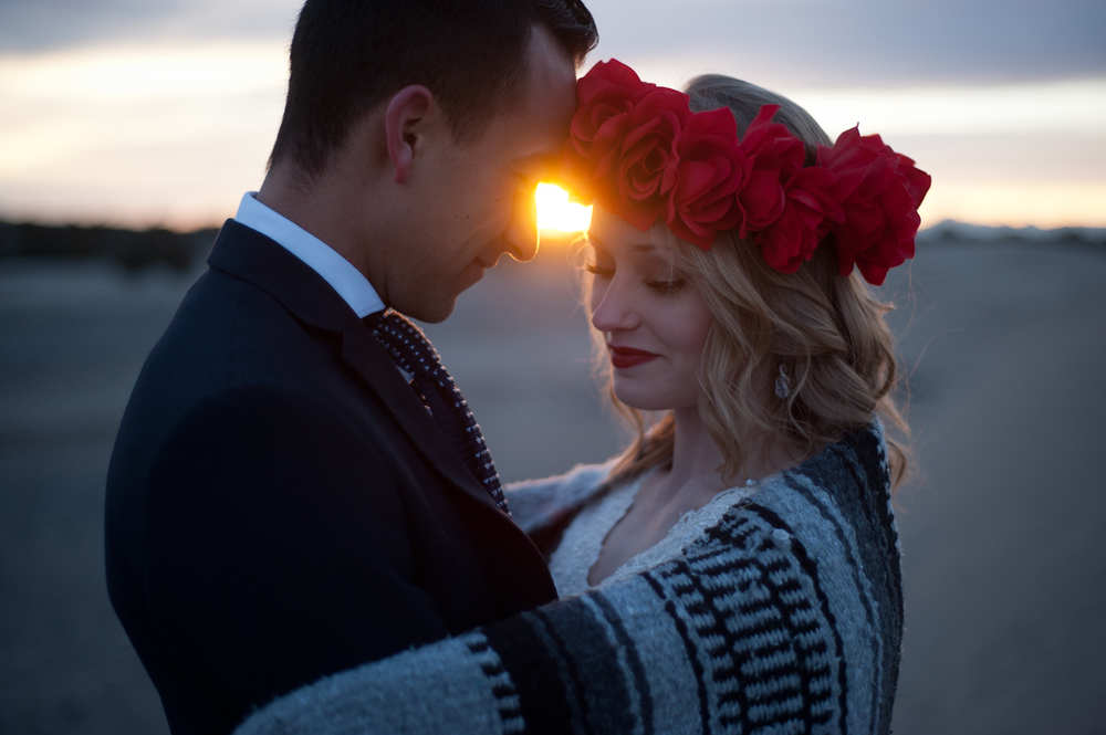 Sunset destination wedding photography