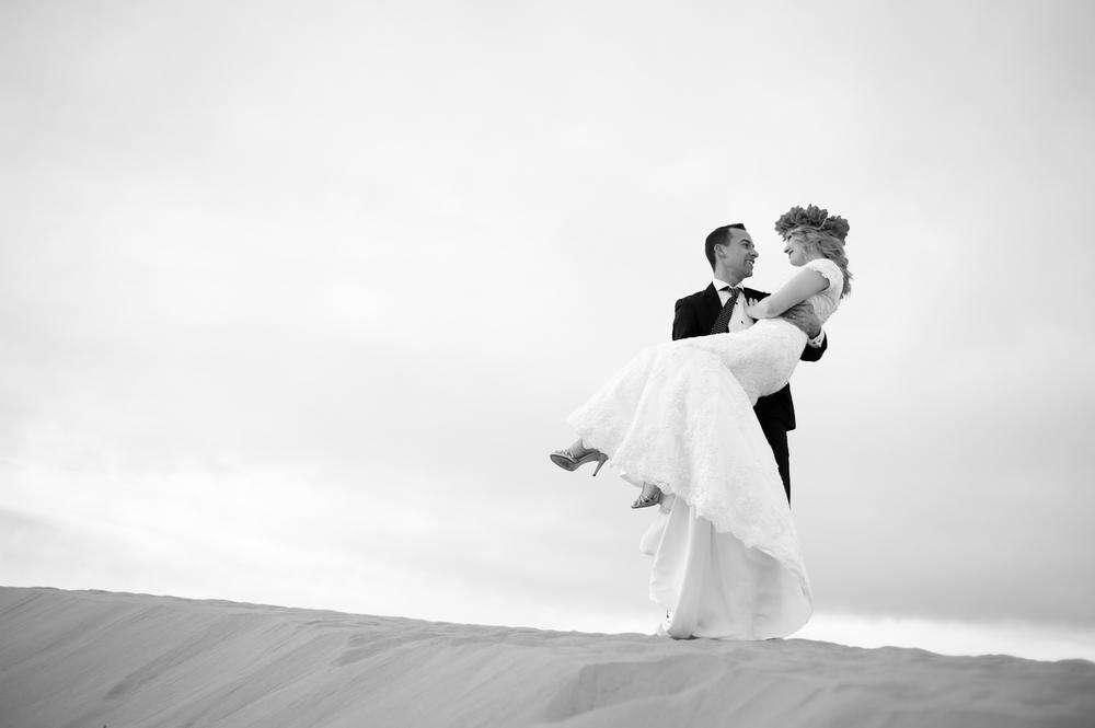 Romantic Destination Sand Dune Wedding