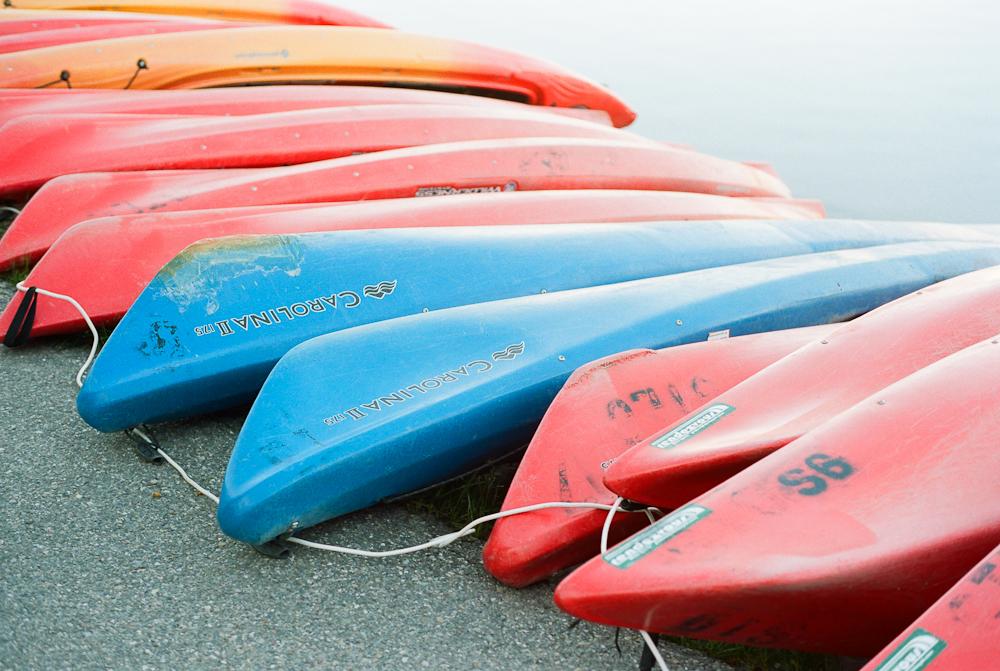 Canoes at Colter Bay