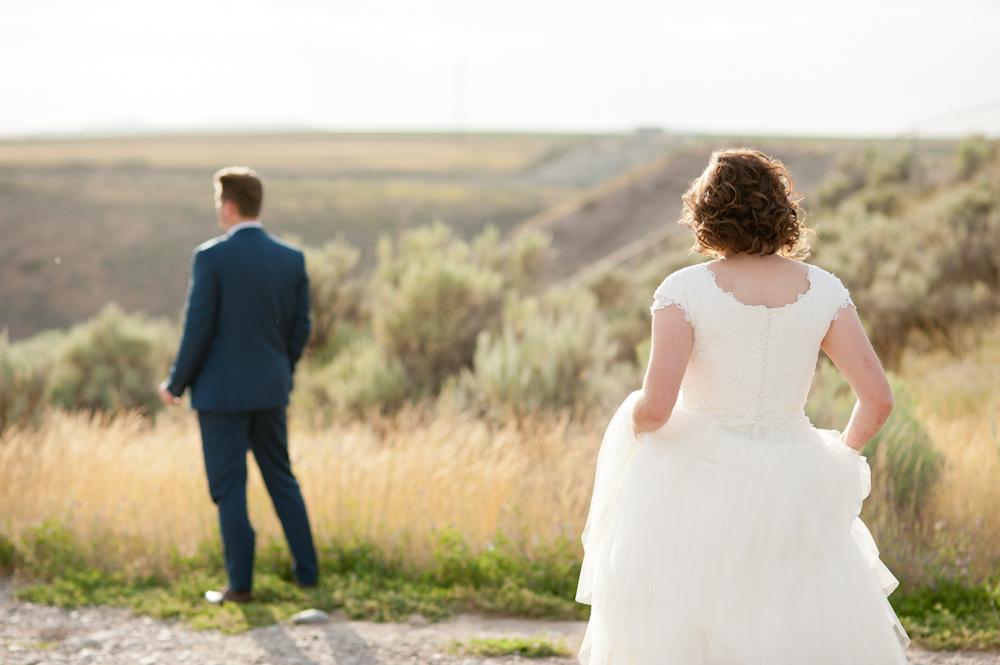 Teton Dam First look Rexburg temple wedding
