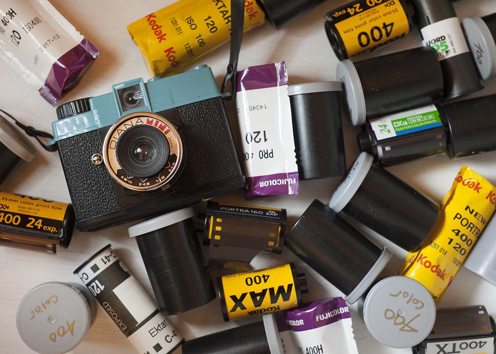 rolls of photographic film