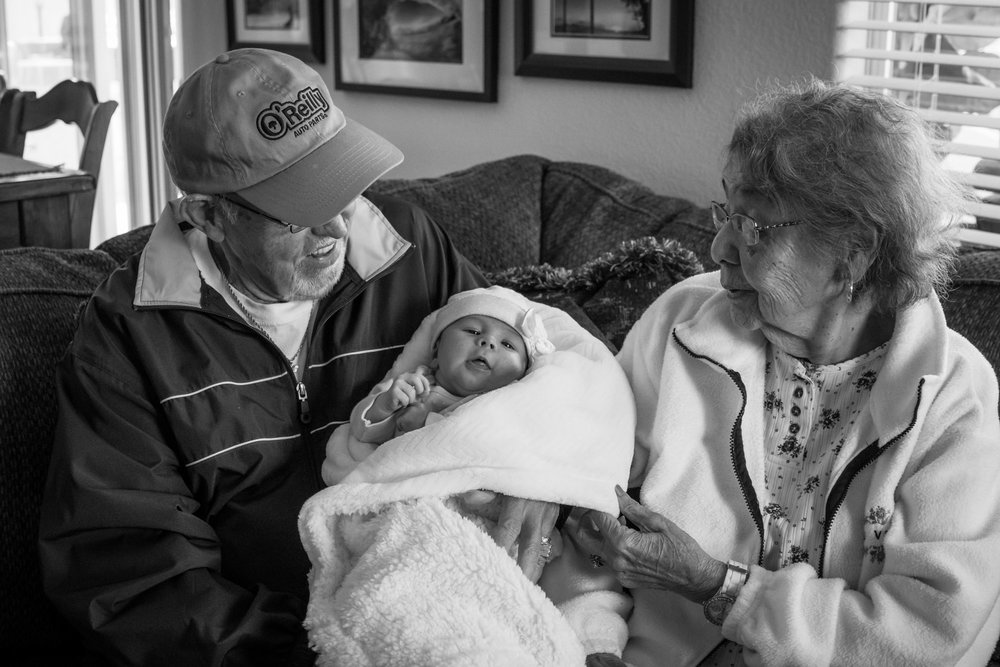 Great Grandparents and baby