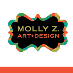Molly Z. Art + Design   Molly's illustration style is bold and fantastical. I've been privileged paint patterns on a few of Molly's murals in Chicago & the 2011 HOW Design Conference.