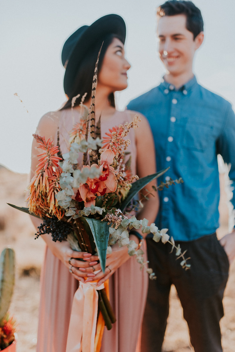 Desert inspired bouquet for Joshua Tree Elopement.