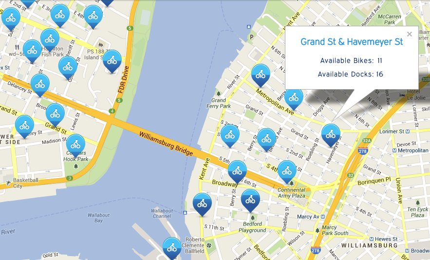 We're accessible by CitiBike from almost anywhere in the city with a station across the street. Click the map for your station!
