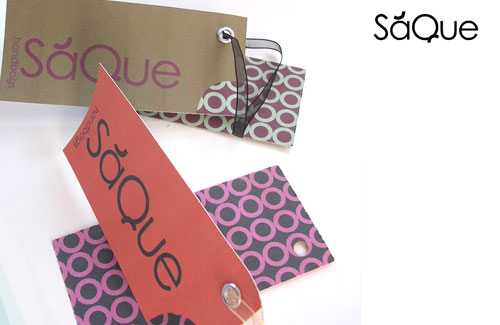 Logo for SaQue bag company