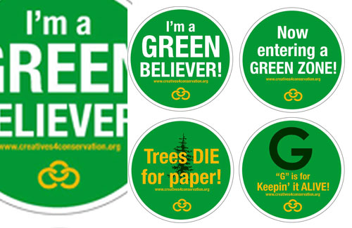 Promotional stickers for Creatives for Conservation