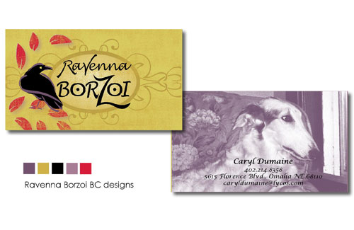 Business cards for dog breeder