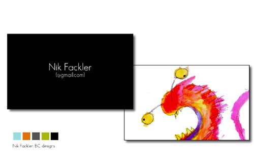 Business cards for artist/film maker