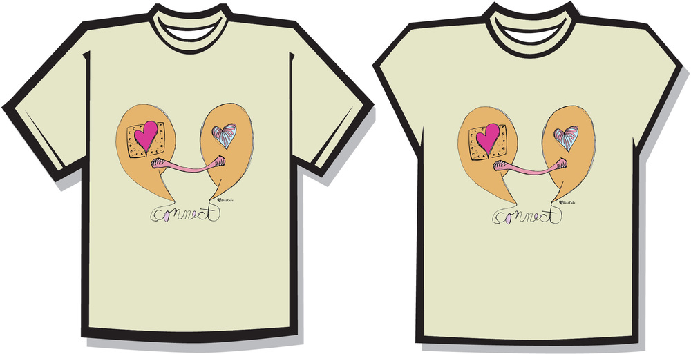 """Heart Connect"" T-shirt Design"