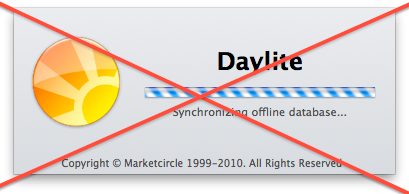 No more interruptions with Daylite 3.10