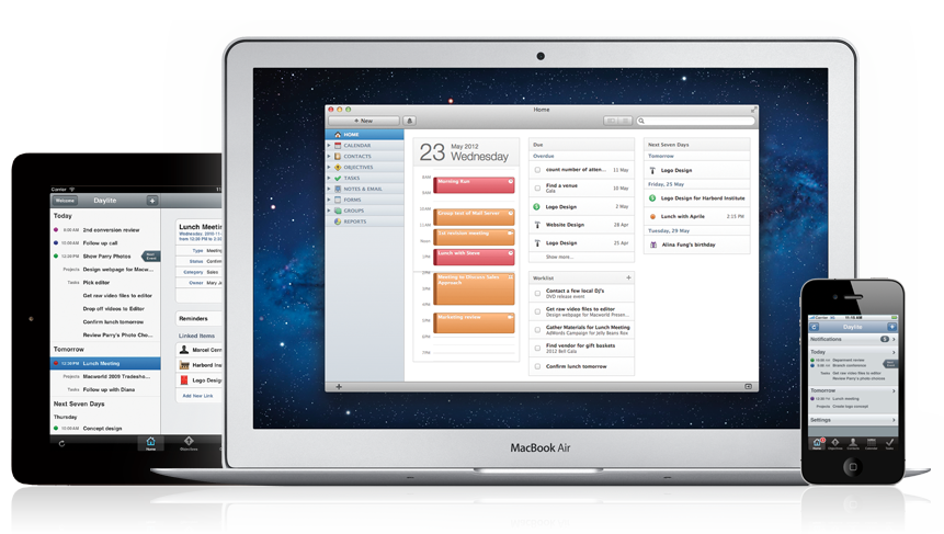 Daylite 4 on your Mac, iPad, & iPhone!