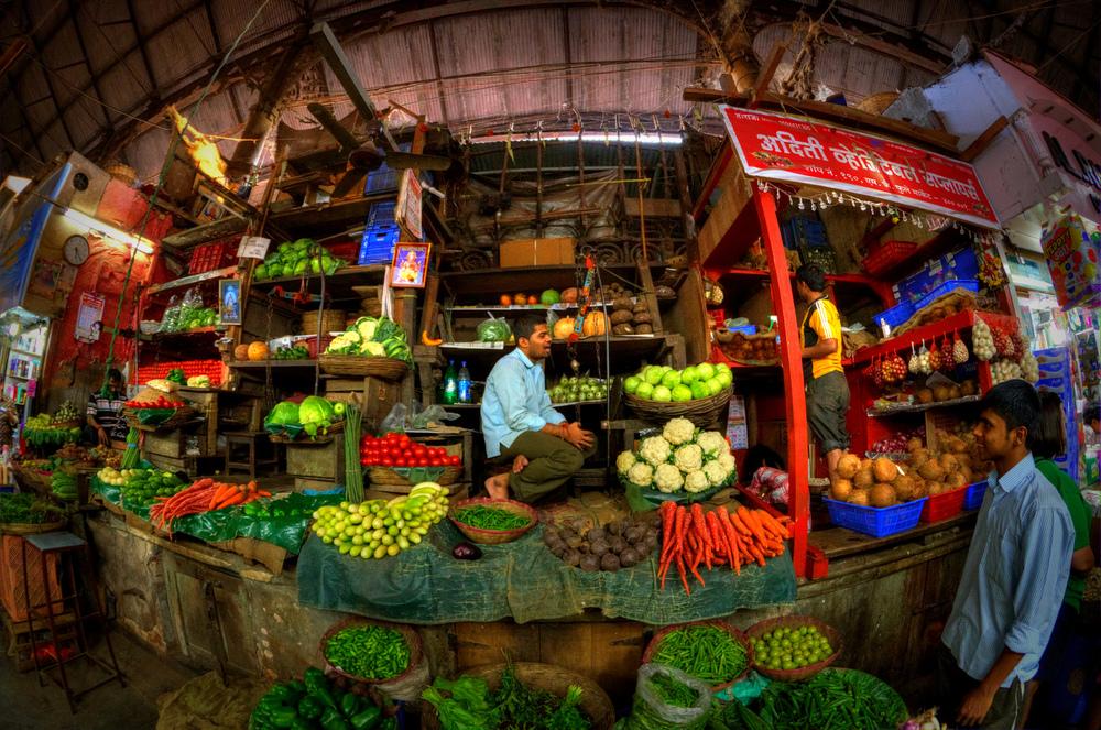 Market place in Mumbai, India