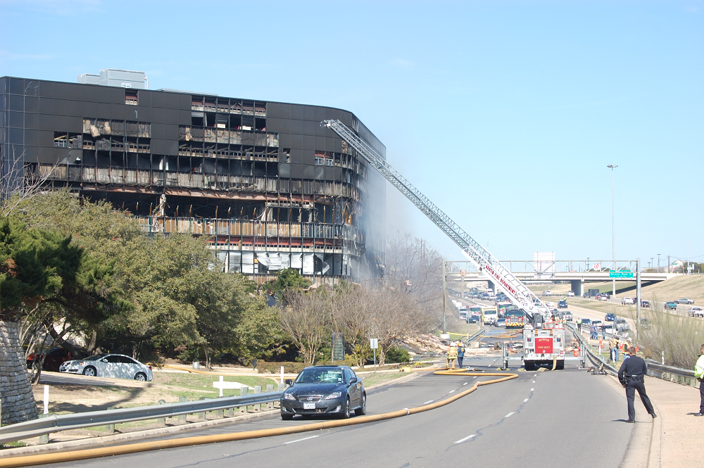 Site of Lone Pilot Deliberate Crash into IRS Building in Austin, Texas