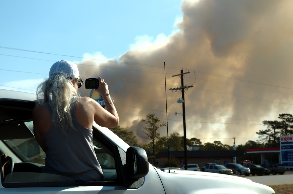 Watching the Bastrop fires in Texas, USA