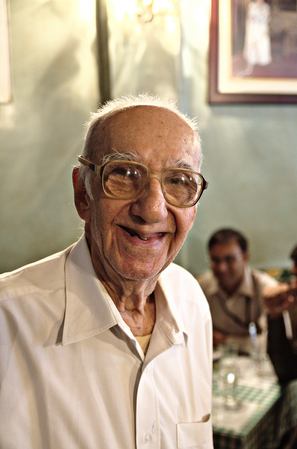 Boman Kohinoor, Owner of the Brittania restaurant in Mumbai, India