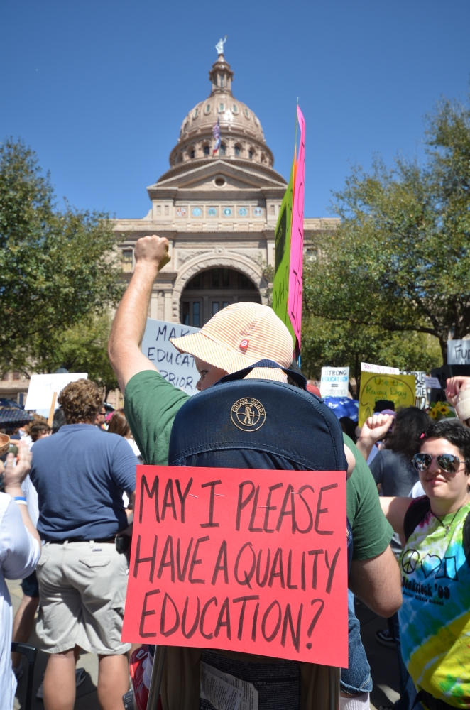 Rally to Save Texas Schools in Austin, Texas, USA