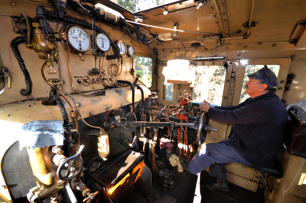 Puffing Billy Train Driver, Melbourne, Australia