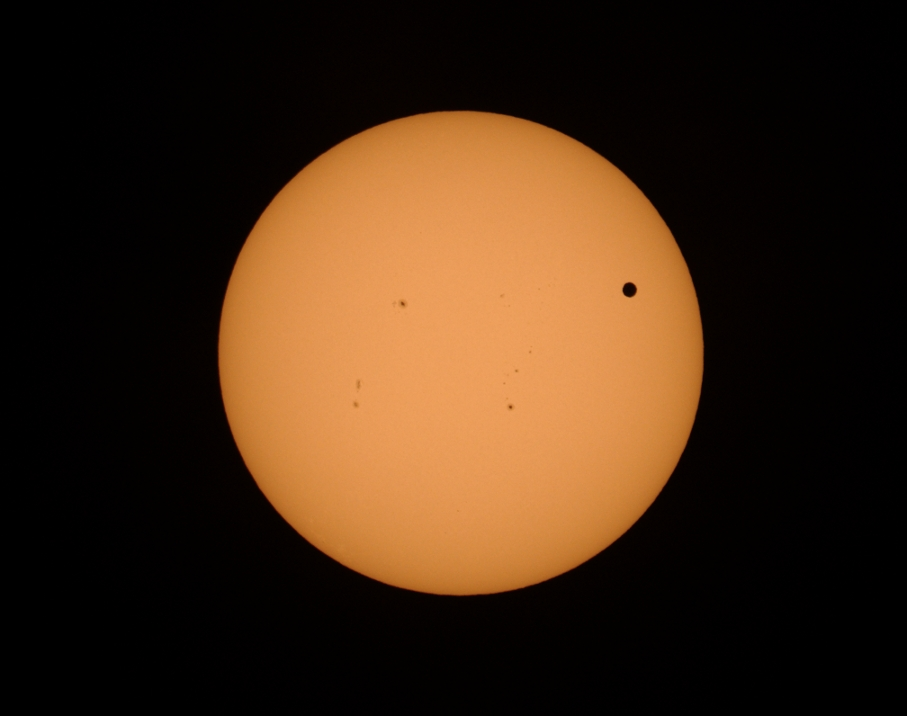 Transit of Venus with Sunspots