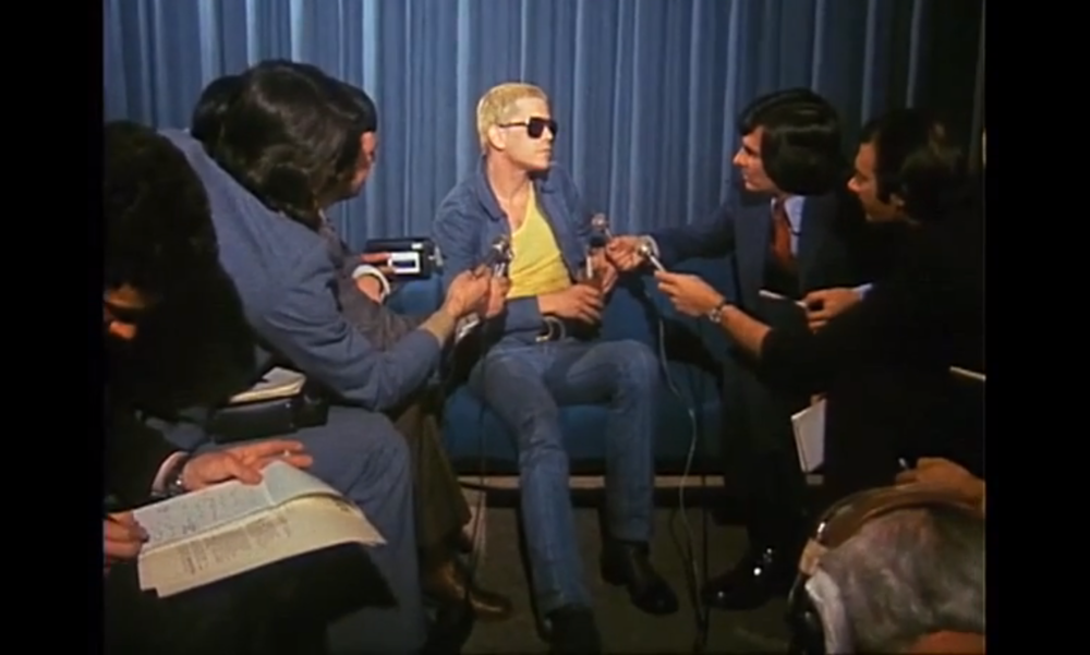 color: screen shot from a film ( This segment was first broadcast on August 19, 1974 on GTK (Get To Know), a ten-minute magazine-style program about pop culture that ran on the ABC from 1969 to 1975.)