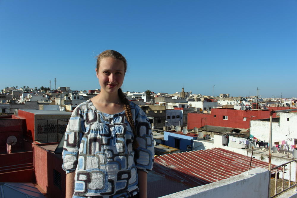 Julia Barstow, '16, is studying journalism and media with SIT Morocco. Julia is with a homestay family, in Rabat.