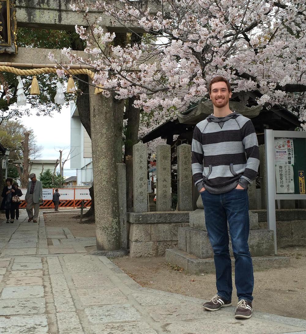 Kyle Gordon, '17, in Japan
