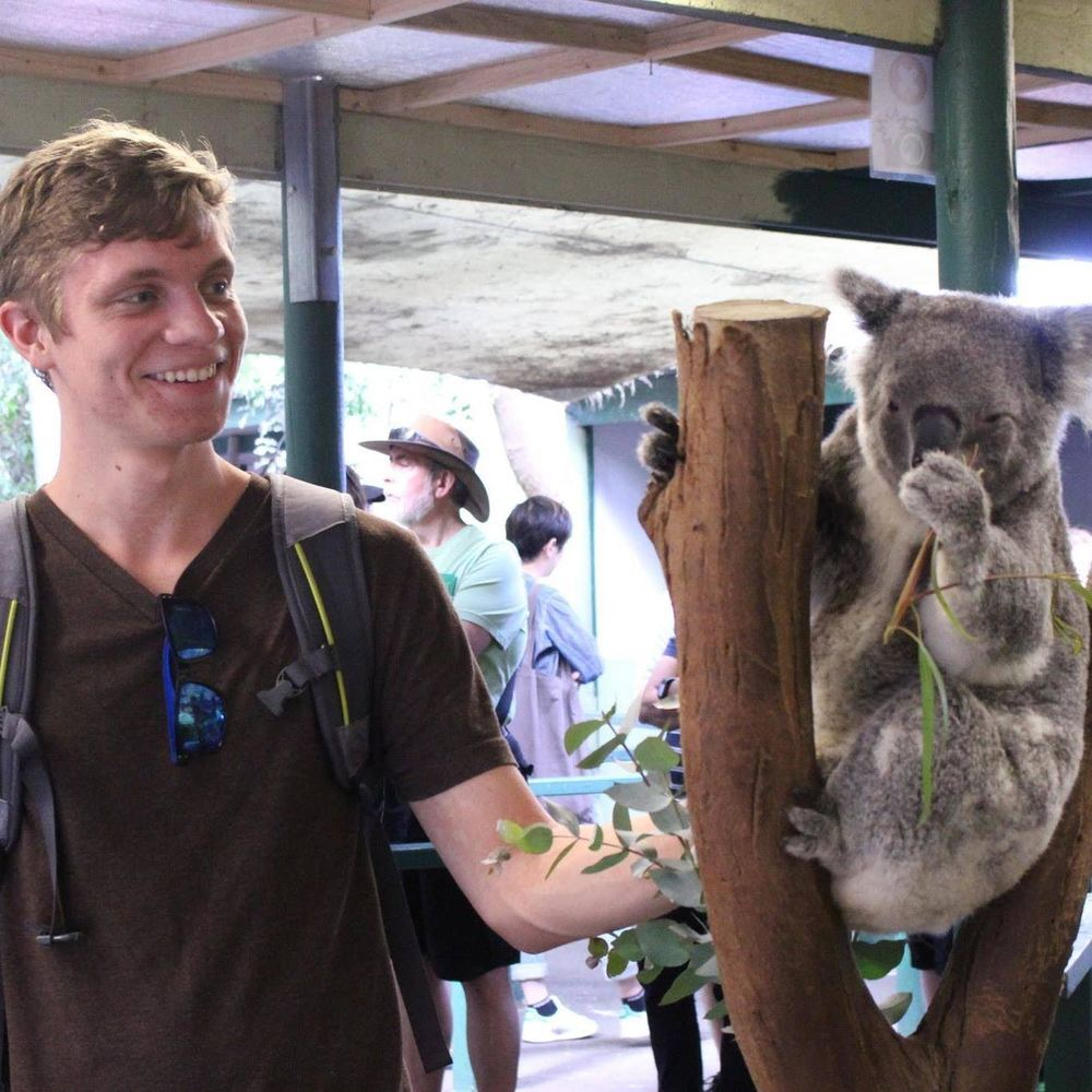 Benny Ehlers with a  Koala in Australia!