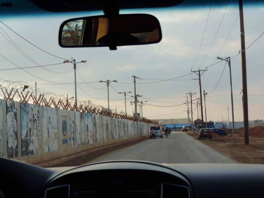 Entrance to Za'atari Refugee Camp. Courtesy Sitashma Parajuli