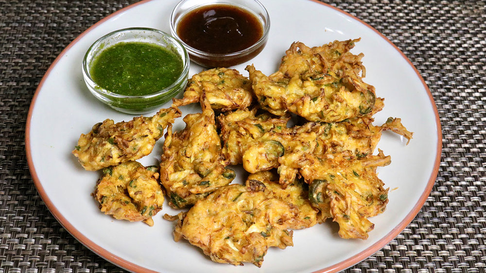 Pakoras, Image from Manjula's Kitchen.