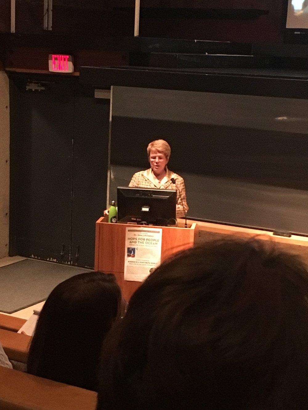 Dr. Jane Lubchenco.