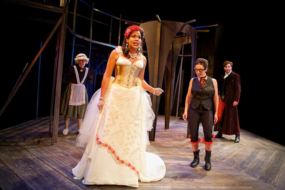 Aphra Behn's The Rover, with Elissa Beth Stebbins, Lauren Spencer and Jeremy Kahn. Shotgun Players. Photo: Pak Han.