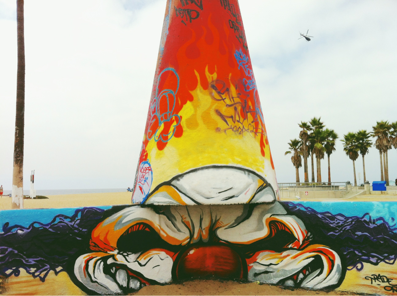 #venice beach #clown #graffiti #wall