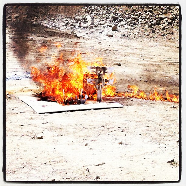 Burn baby burn (Taken with  Instagram  at Waste Managment Azusa)