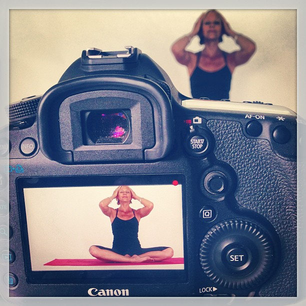 Shooting the fabulous Yoga Girl today #yogagirl