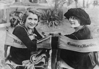 Frances Marion with Mary Pickford