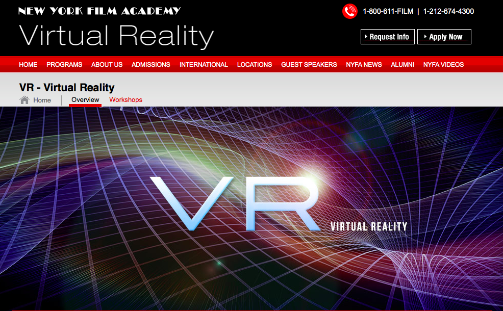 I Ll Be Teaching Vr Narrative At The New York Film Academy