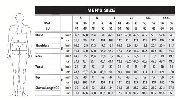 shirt and pants size chart: Mens shirt size chart house of lords clothing men dress shirt