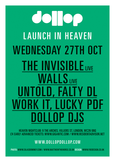 TONIGHT IN LONDON - dollop Launch in Heaven. wendesday 27th October