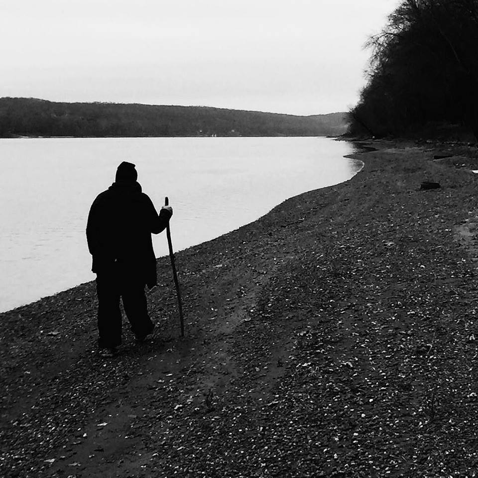 walking and collecting on the ohio river, Kentucky side.