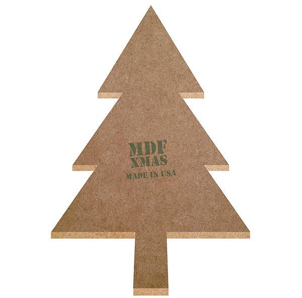 Christmas trees turned into MDF wood