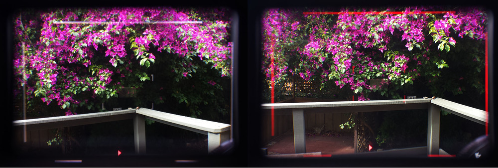 New illuminated Framelines on the Leica M240. Framing not to scale/accurate, shot through viewfinder using Samsung S4.