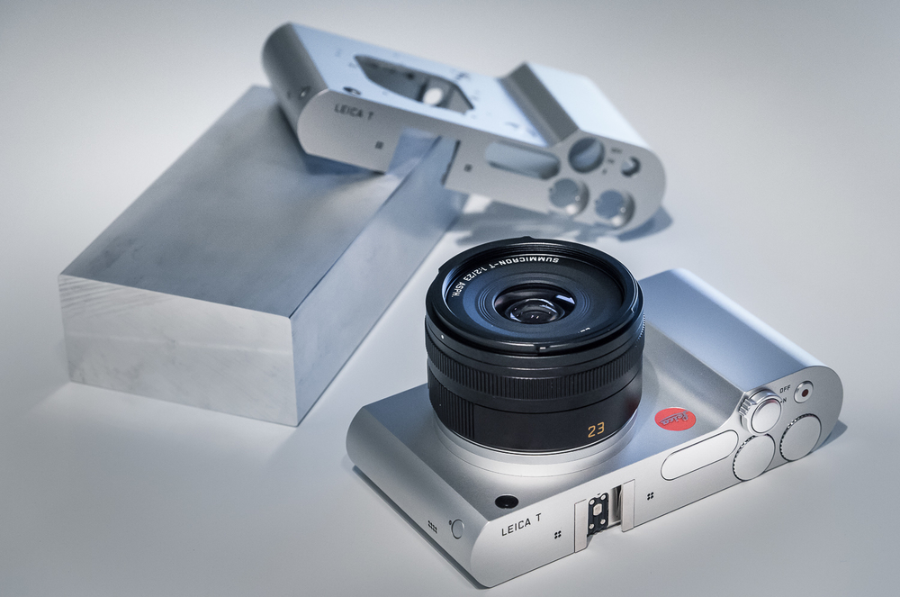 The Leica T, carved out of a solid block of aluminium