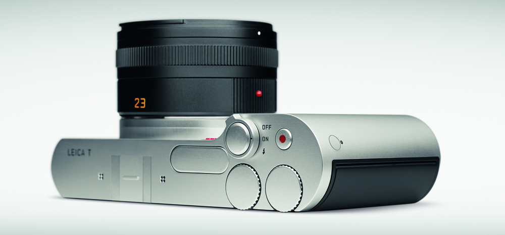Leica T top controls