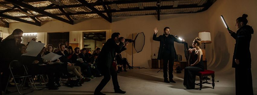 Demonstrating the use of the Ice Light with the creator himself Jerry Ghionis at my Nikon Hollywood Lighting Seminar